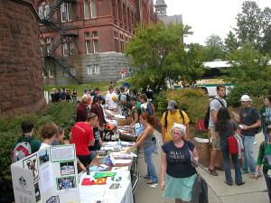Activity fair on campus