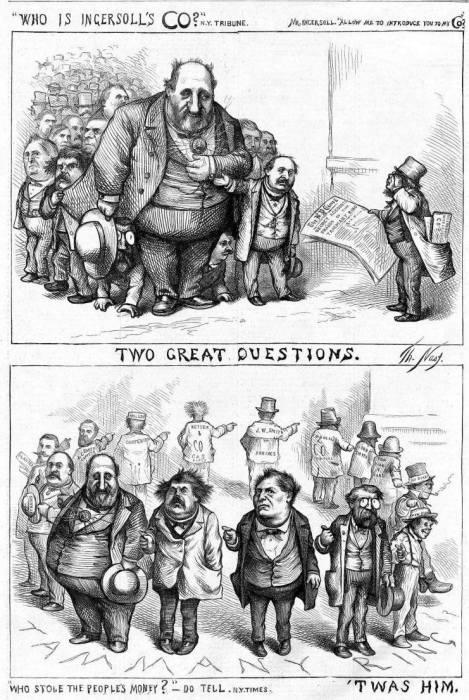 A political cartoon by Thomas Nast