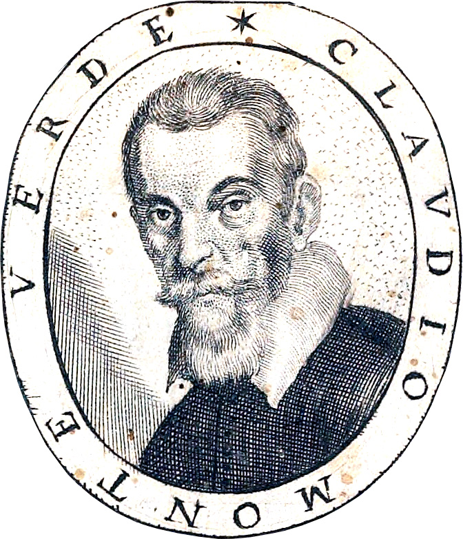 Figure 2. The only certain portrait of Claudio Monteverdi, from the title page of Fiori poetici, a 1644 book of commemorative poems for his funeral