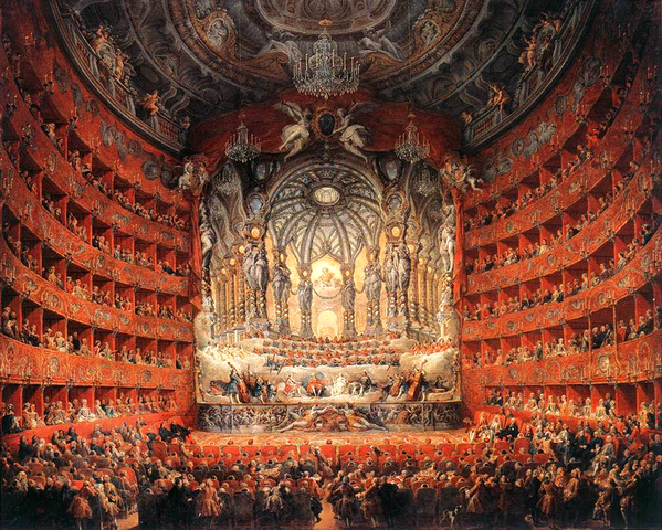 Figure 2. Teatro Argentina (Panini, 1747, Musée du Louvre)