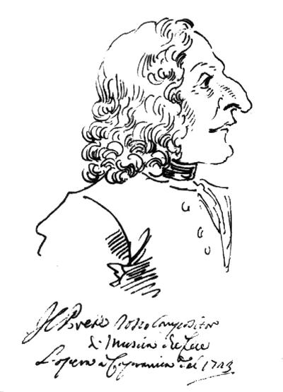 Figure 4. Caricature by P. L. Ghezzi, Rome (1723)