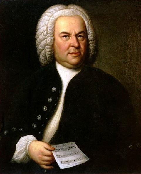 Figure 1. Portrait of Bach, aged 61, Haussmann, 1748
