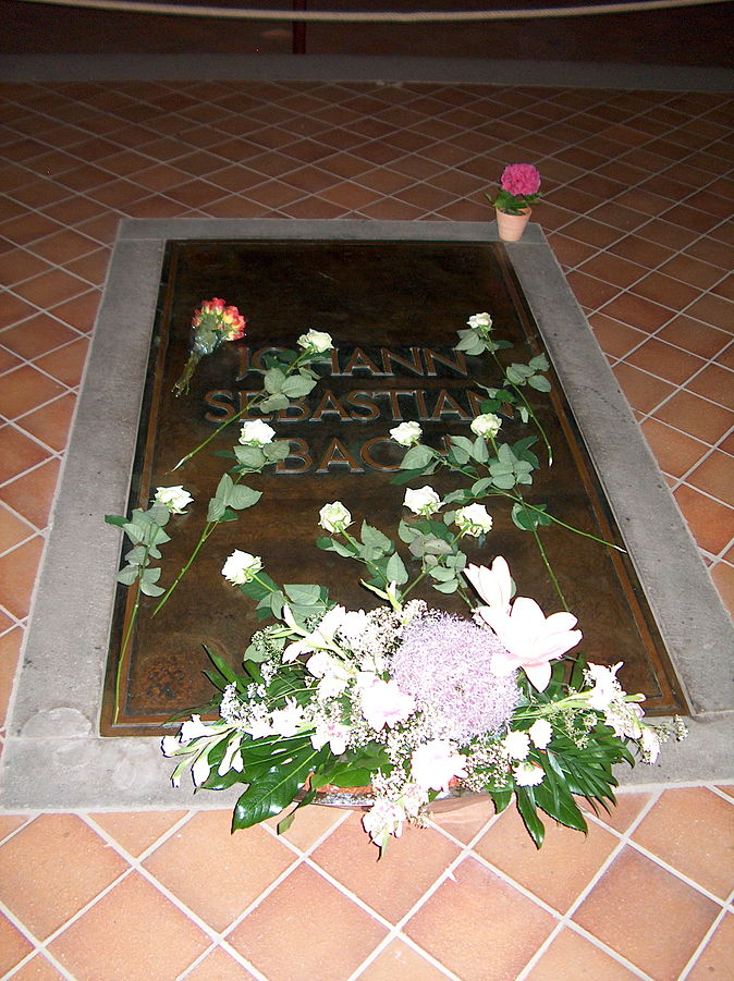 Figure . Bach's grave, St. Thomas Church, Leipzig
