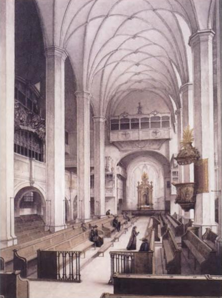 Figure 1. Thomaskirche, one of the two Leipzig churches where Bach composed and performed church cantatas almost weekly from 1723 to 1726