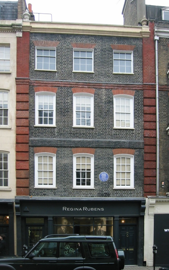 Figure 3. Handel House at 25 Brook Street, Mayfair, London