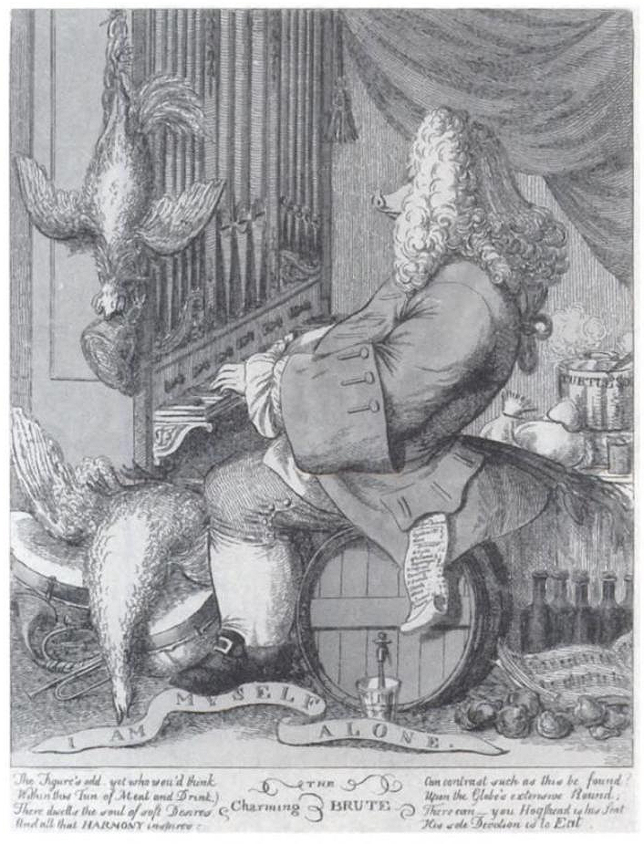 Figure 4. Caricature of Handel by Joseph Goupy (1754)