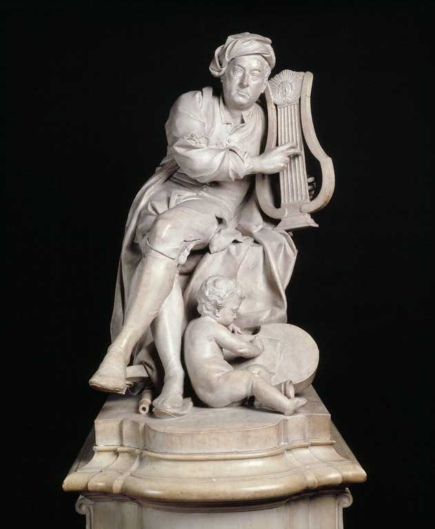 Figure 6. A carved marble statue of Handel, created in 1738 by Louis-François Roubiliac