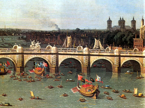 "Figure 1. ""Westminster Bridge on Lord Mayor's Day"" by Canaletto, 1746 (detail)"