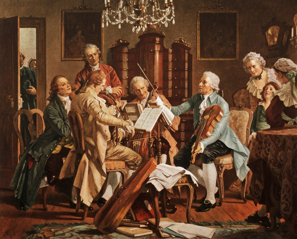 Figure 1. Joseph Haydn playing string quartets