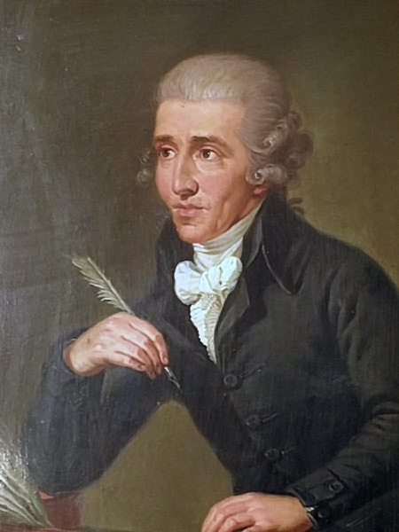 Fiugre 3. Portrait by Ludwig Guttenbrunn, painted c. 1791–2, depicts Haydn c. 1770