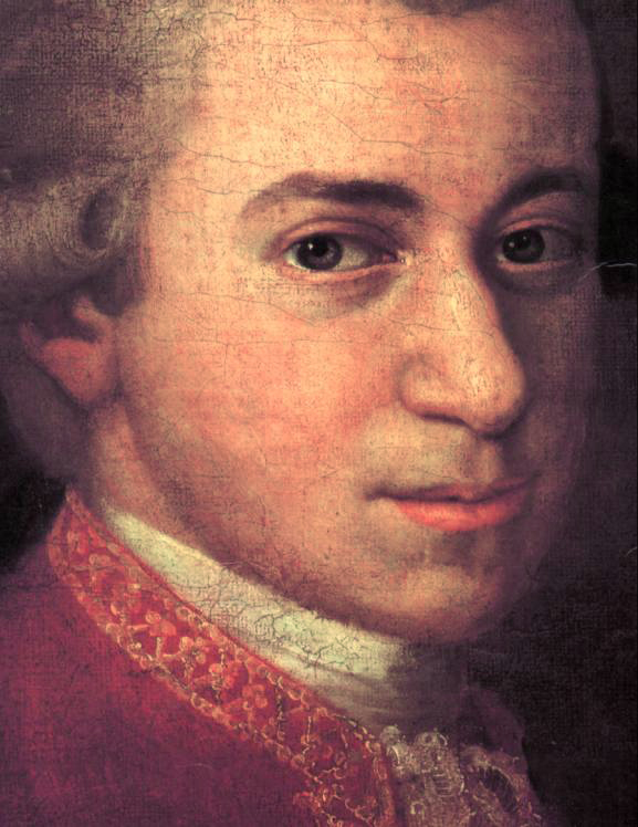 Figure 1. Mozart c. 1780, detail from portrait by Johann Nepomuk della Croce