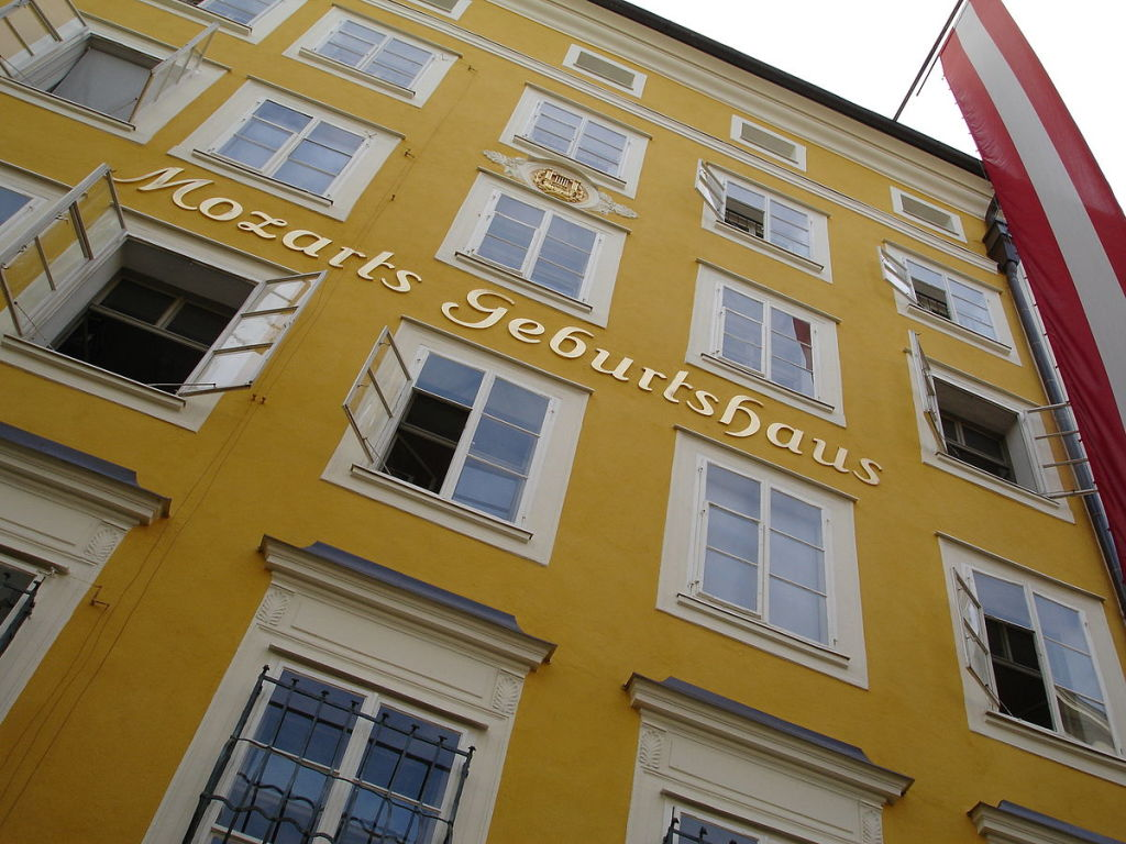 Figure 2. Mozart's birthplace at Getreidegasse 9, Salzburg