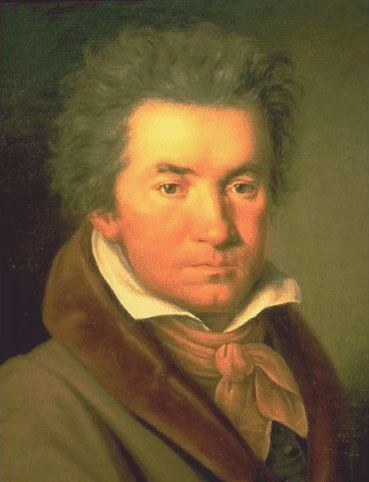 Figure 4. Beethoven in 1815 portrait by Joseph Willibrord Mähler