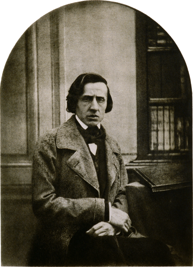 Figure 1. Photograph of Chopin by Bisson, c. 1849