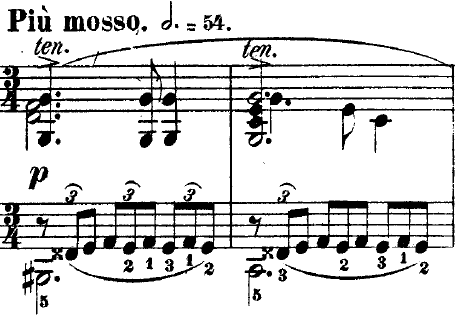 Figure 1. The second theme of No. 1 in C♯ minor