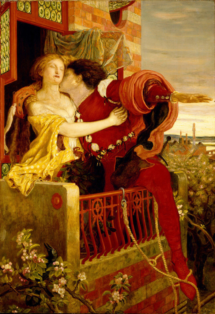 Figure 1. An 1870 oil painting by Ford Madox Brown depicting Romeo and Juliet's famous balcony scene