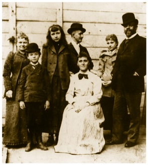Figure 1. Dvořák with his family and friends in New York in 1893. From left: his wife Anna, son Antonín, Sadie Siebert, Josef Jan Kovařík, mother of Sadie Siebert, daughter Otilie, Antonín Dvořák