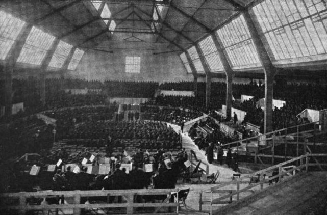 Figure 1. Munich, September 1910. Final rehearsal for the world premiere of Mahler's Eighth Symphony, in the Neue Musik-Festhalle.