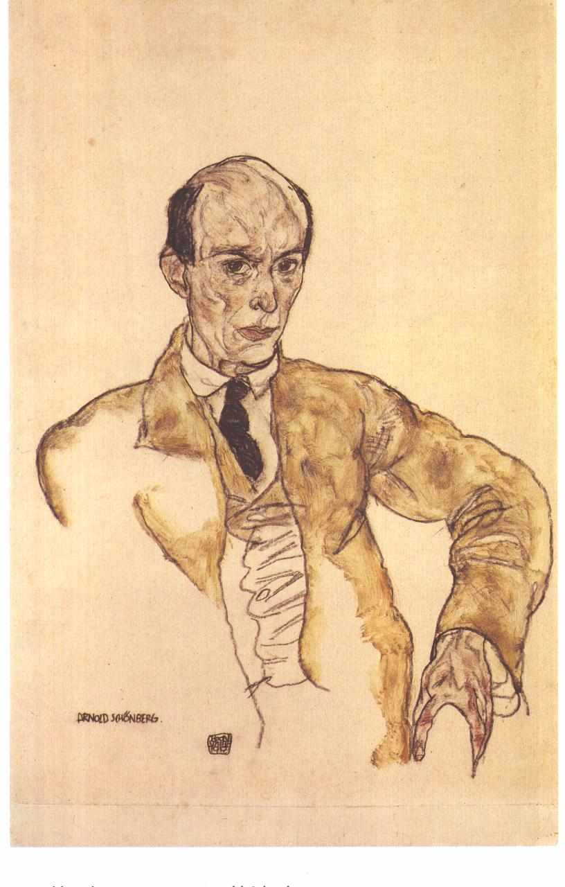 Figure 2. Arnold Schoenberg, by Egon Schiele 1917