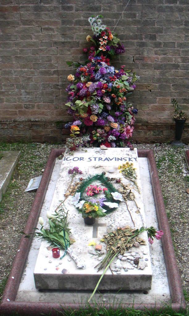 Figure 3. Grave of Stravinsky in San Michele Island, Venice