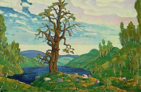 Figure 1. Part of Nicholas Roerich's designs for Diaghilev's 1913 production of Le Sacre du printemps