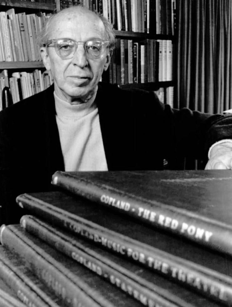 Figure 1. Aaron Copland as subject of a Young People's Concert, 1970