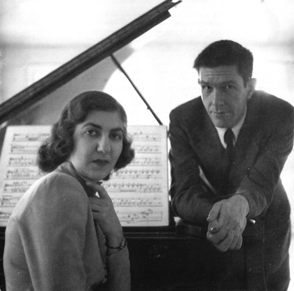 Figure 2. John Cage with the pianist Maro Ajemian, to whom he dedicated Sonatas and Interludes