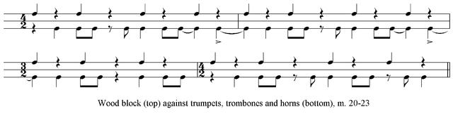 Example 3. Result of rhythmic dissonance