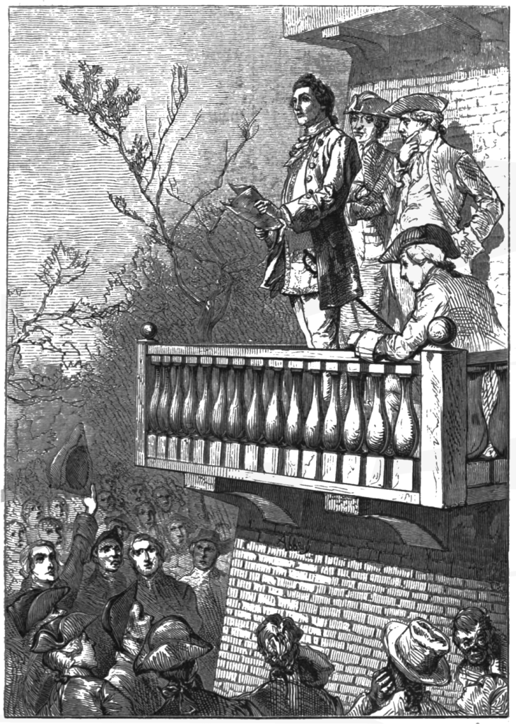 Illustration from 1876 shows John Dixon reading the Declaration of Independence
