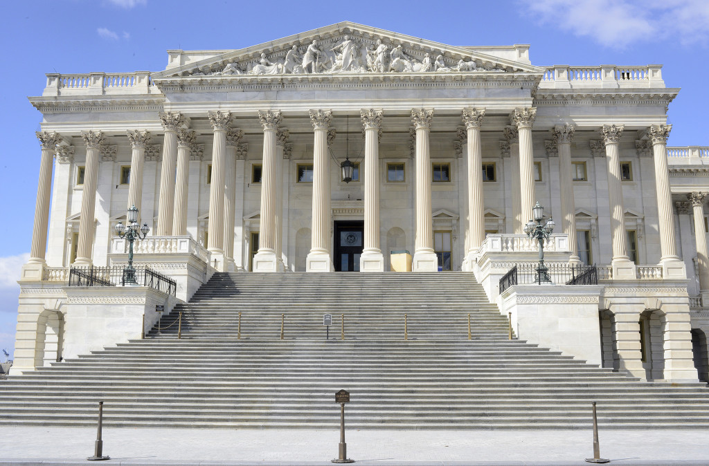 Photo of the front of the U.S. House of Representatives Building in Washington, DC.