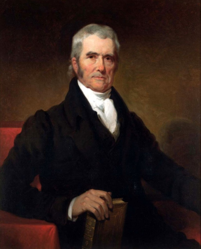 Portrait of John Marshall. Oil painting by Henry Inman.