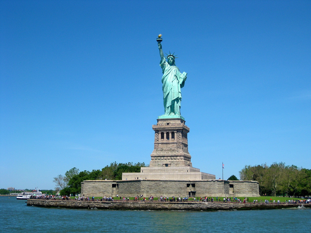 Photo of Statue of Liberty from New York Harbor.