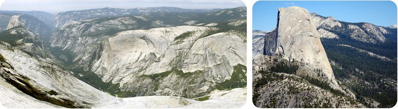 Figure 3. California's Sierra Nevada is intrusive igneous rock exposed at Earth's surface.