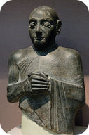Figure 9. This diorite statue was made in approximately 2120 BC.