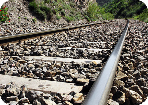 Figure 19. Crushed quartzite is sometimes placed under railroad tracks because it is very hard and durable.