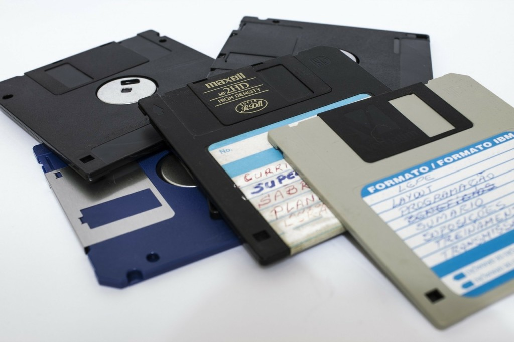 Five floppy disks