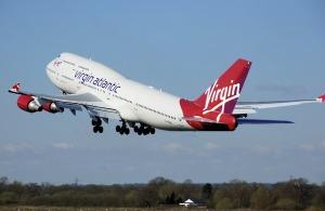 Virgin Atlantic airplane taking off