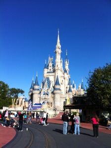 The Cinderella's castle at Disney World