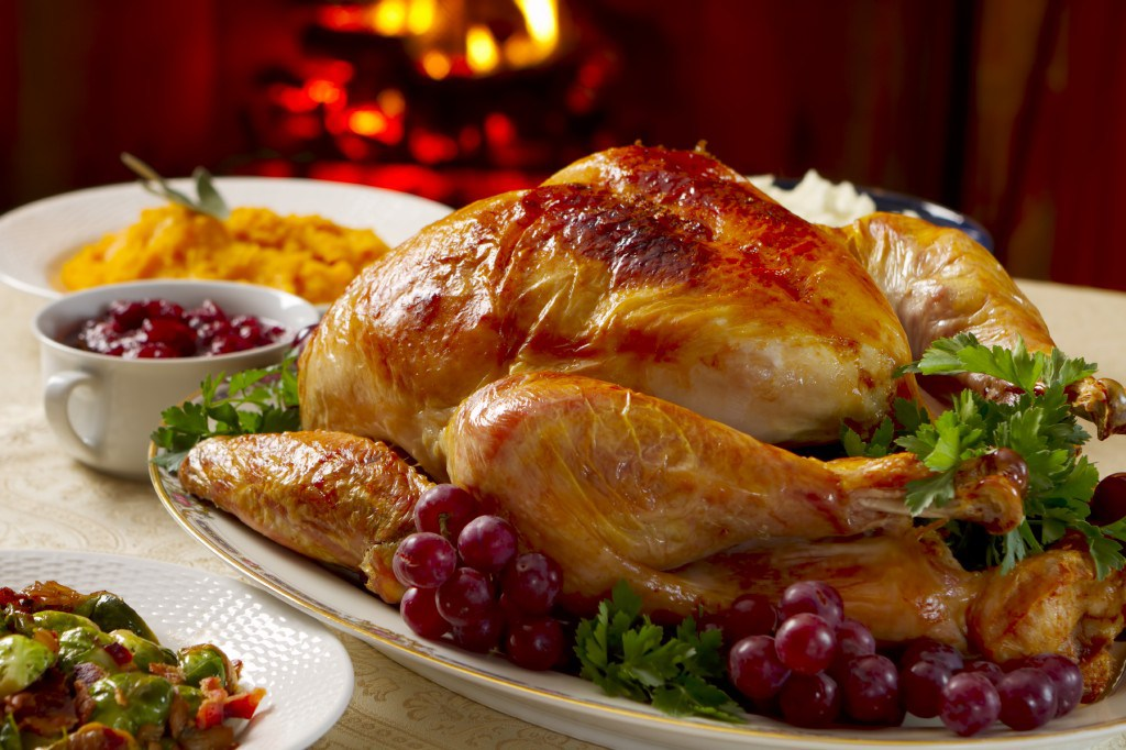 A turkey dinner