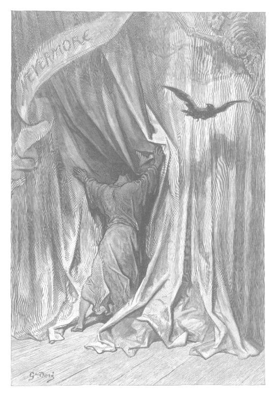 Illustration of the Raven by Gustave Doré