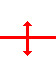 horizontal line with a vertical line crossing it. There are arrows on both ends of the vertical line pointing away from the horizontal line.