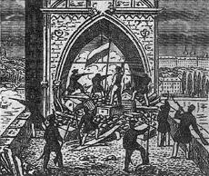 Praha_Barricades_Charles_Bridge_panel_1848