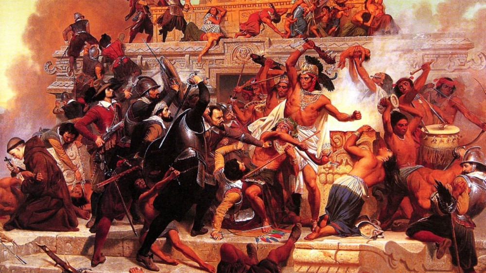 a history of the spanish conquest of the aztec civilization