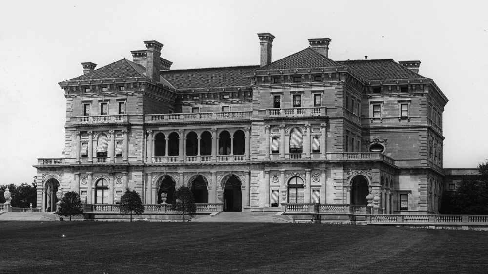 A large and elaborate house.