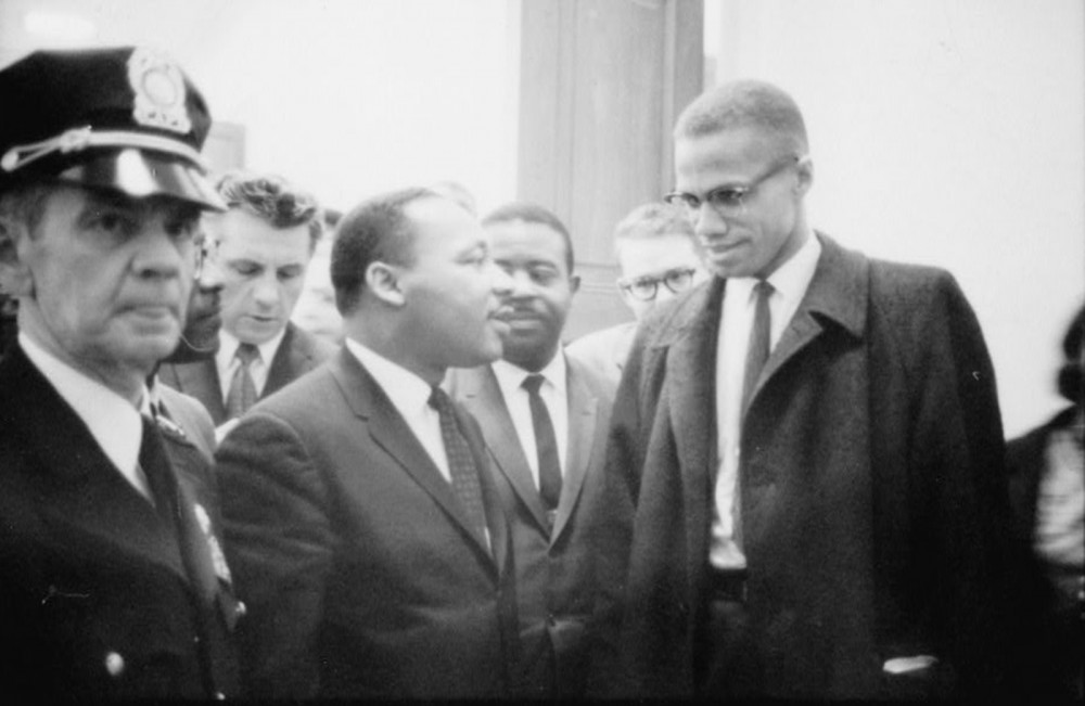 Martin Luther King and Malcolm X.
