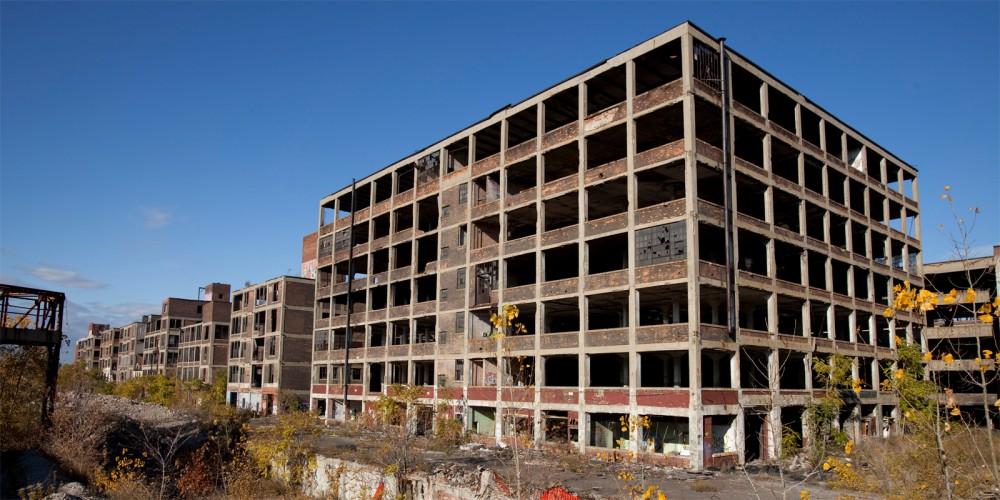 Large abandoned building.