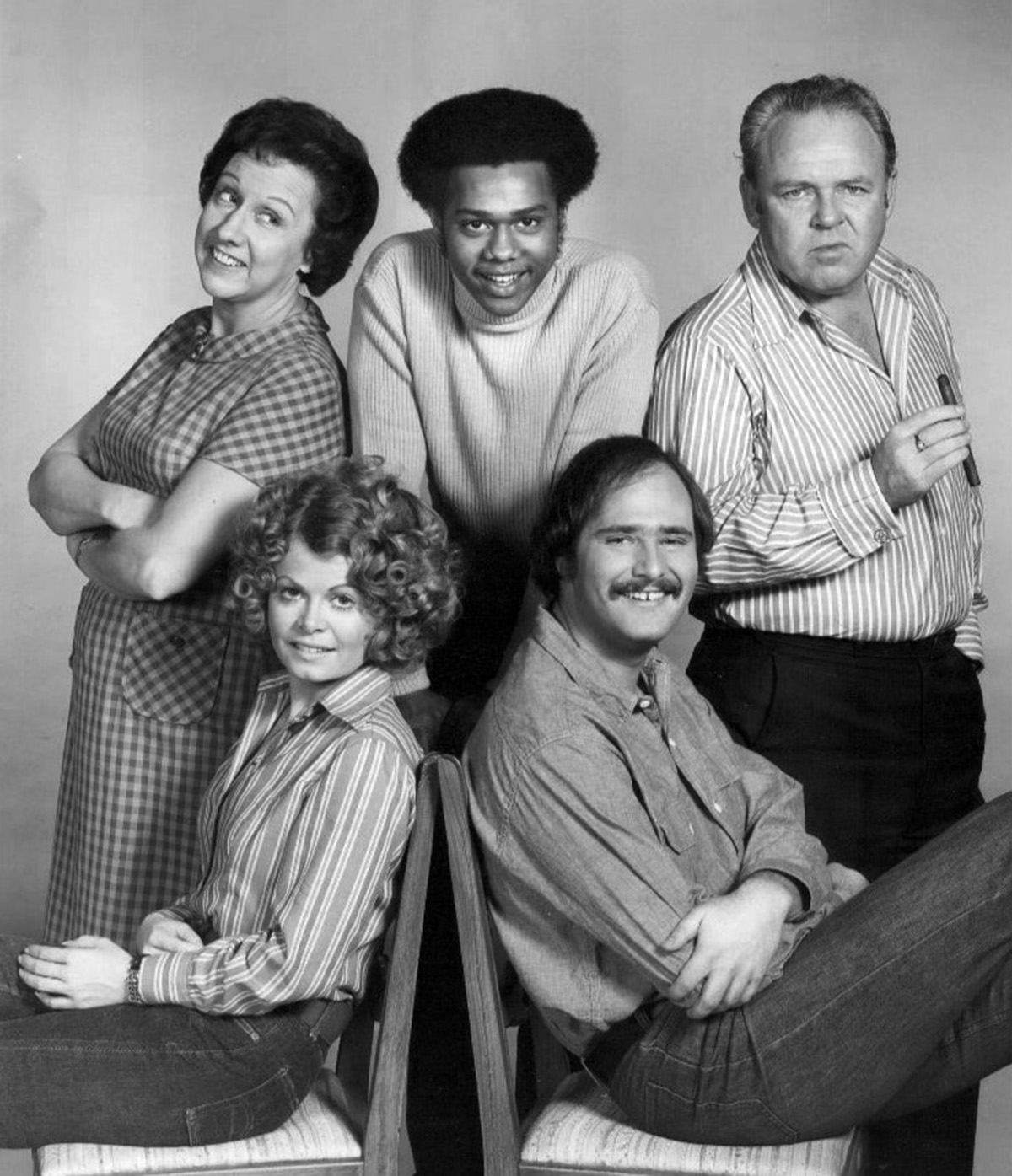 Cast of All in the Family.