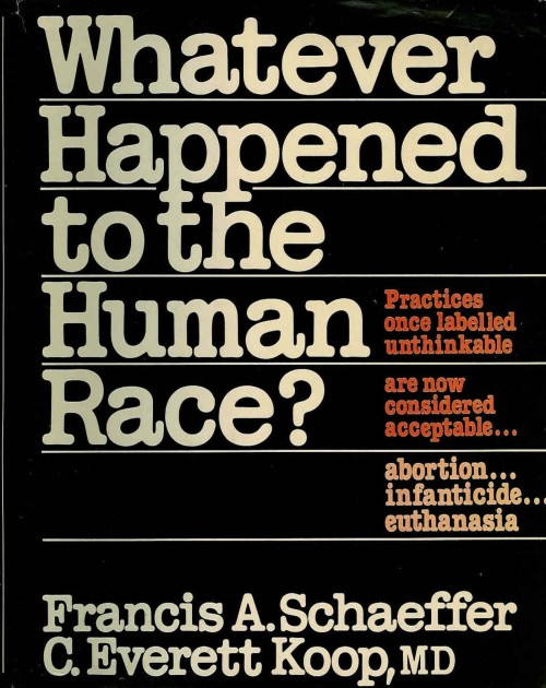 Cover of book titled, Whatever Happened to the Human Race?
