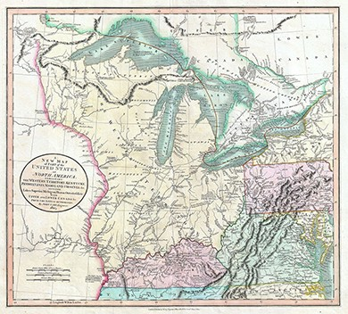 A Vibrant Capitalist Republic United States History I - 1808 map of the us
