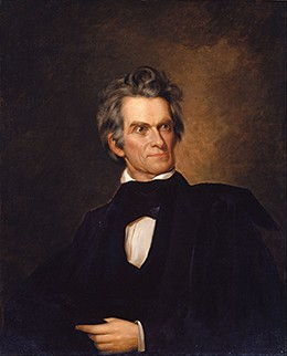 A portrait of John C. Calhoun is shown.